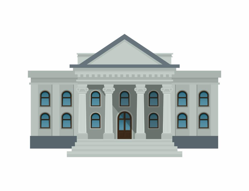 Une Mairie, qui est un bâtiment de la fonction publique, qui propose le FMD.