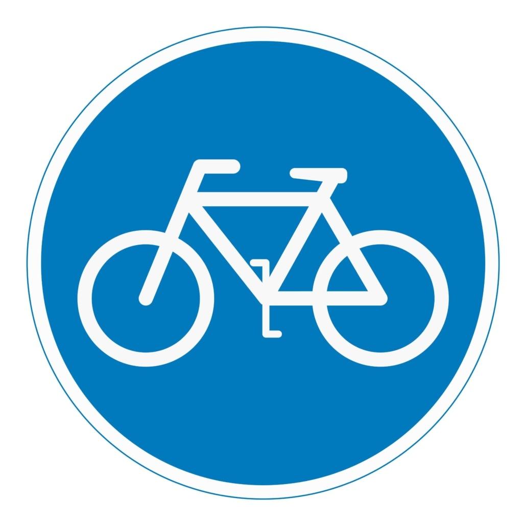 Panneau marquant la circulation à vélo.